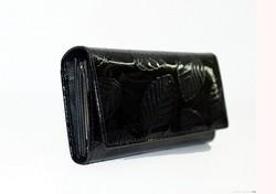 Дамско портмоне ЕСТЕСТВЕНА КОЖА - 512 - черно