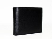 Мъжки портфейл ЕСТЕСТВЕНА КОЖА - 802 - черен