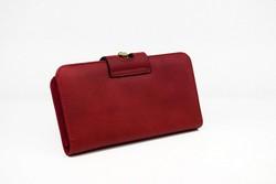 Дамско портмоне тип малка чанта - 520 - тъмно червено