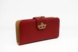 Дамско портмоне тип малка чанта  - 521 - червено