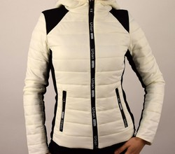 Пролетно - есенно дамско яке - 1521 - бяло и черно