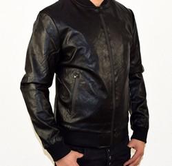 Кожено мъжко яке - 1114 - черно