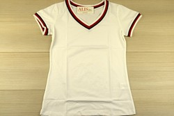 Дамска блуза с къс ръкав - 5006 - бяла изчистена