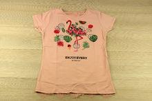 Дамска блуза с къс ръкав и ефектен гръб - 5012 - розова
