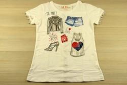 Дамска парти блуза с къс ръкав - 5012 - бяла