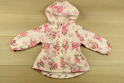 Детско пролетно яке за момичета от 1 до 5 г. - 3004 - бяло