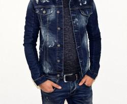 Мъжко дънково яке - 1121 - тъмно синьо