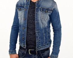 Мъжко дънково яке - 1122 - светло синьо