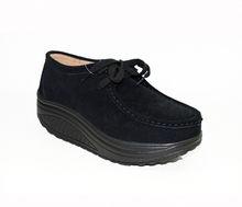 Дамски обувки от ЕСТЕСТВЕН ВЕЛУР - черни