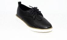Дамски обувки с перфорация - 0094 - черни