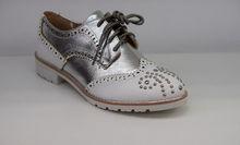 Дамски обувки с капси - 0095 - бели