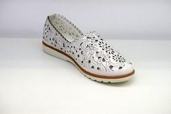 Дамски обувки ЕСТЕСТВЕНА КОЖА - 6601 - бели