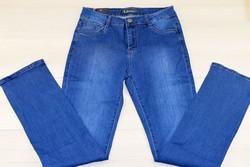 Дамски дънки макси размер - SUNBIRD - тъмно сини