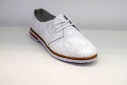 Дамски обувки ЕСТЕСТВЕНА КОЖА - 6603 - бели