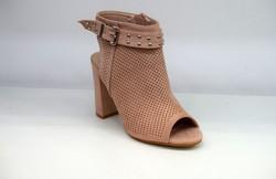 Стилни дамски сандали на ток - 5501 - розови