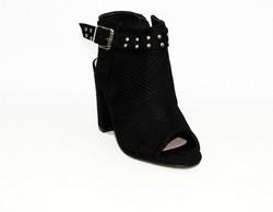 Стилни дамски сандали на ток - 5501 - черни