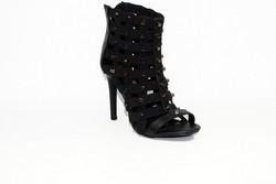 Елегантни дамски сандали на висок ток - 5502 - черни