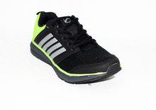Дамски маратонки - 8010 - черно/зелено