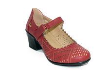 Дамски сандали на нисък ток - 0355 - бордо