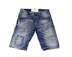 Актуални къси мъжки дънки - 1992 LEOX - сини