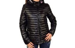 Дамско пролетно - есенно яке в макси размери - 1532 - черно
