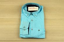 Мъжка ленена риза с дълъг ръкав - BIRINDELLI 07 - светло синя