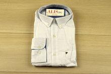 Мъжка ленена риза с дълъг ръкав - BIRINDELLI 07 - бяла