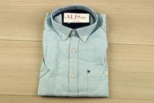 Мъжка ленена риза с къс ръкав - BIRINDELLI 09 - светло синя