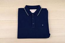 Мъжка тениска с яка - RYS 02 - тъмно синя