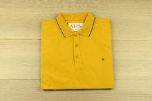 Мъжка тениска с яка - RYS 02 - жълта