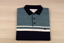 Мъжка тениска с яка двуцветна - RYS 04 - зелено/синьо