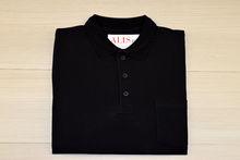 Мъжка тениска с яка и горен джоб  -RYS 06 - черна