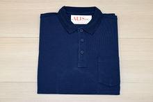 Мъжка тениска с яка и горен джоб -RYS 06 - синя