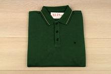 Мъжка тениска с яка  - RYS 07 - зелена