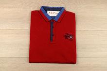 Мъжка тениска с яка -MCS 01 - до 3XL червена