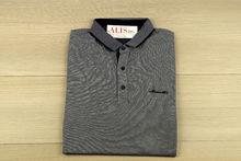 Мъжка тениска с яка -MCS 05- до 3XL - сива