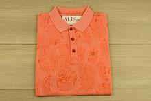 Мъжка тениска с яка - MCS 07 - светъл корал