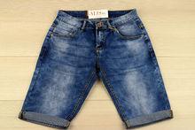 Къси мъжки дънки - M.SARA - тъмно сини от 29 до 40 размер