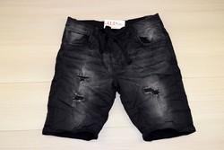 Мъжки къси дънки - MEN'S JEANS WORLD - черни до 38 размер