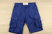 Мъжки къси панталони с джобове - TONY BACKER - сини до 40 размер