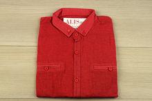 Мъжка риза с дълъг ръкав - BACARDA O1 -корал