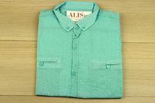 Мъжка риза с къс ръкав - BACARDA 06 - цвят мента
