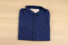 Мъжка риза с дълъг ръкав -  BACARDA 09 -  тъмно синя