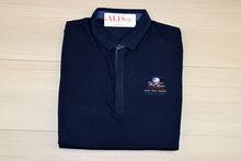 Мъжка тениска с яка - MCS 08 - тъмно синя