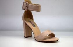 Дамски сандали на висок ток - 5508 - розови