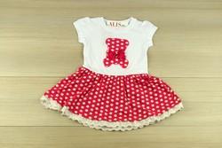Детска рокля за принцеси - бяла и розова от 1 до 5 г.