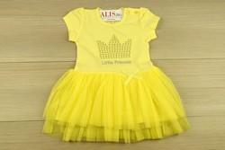 Детска рокля за малки принцеси - жълта от 18м. до 5 г.