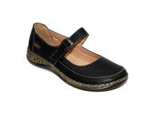 Ортопедични дамски обувки - 6692 - черни