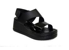 Дамски сандали на платформа - 2806 - черни