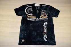 Мъжка тениска в макси размери - SAILING CLUB - черна до 5 XL